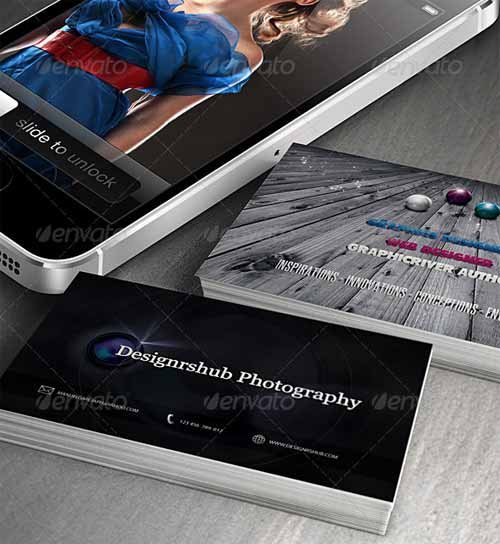 Phone & Business Card Mockup Template