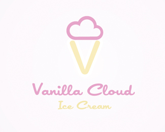 Vanilla Cloud Logo Design