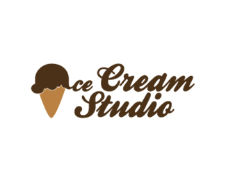 Ice Cream Studio Logo Design