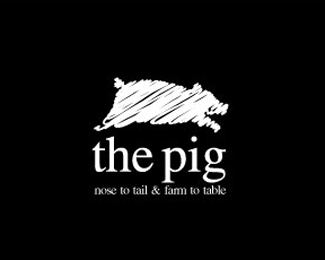 The Pig Logo Design