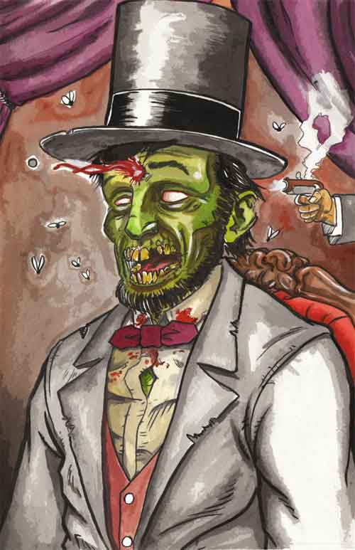 Zombie Abraham Lincoln