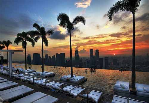 The Infinity Pool, 56th floor of Marina Bay Sands