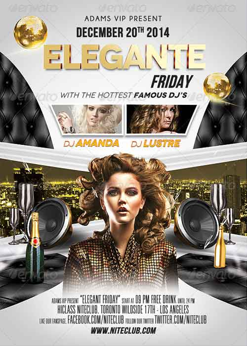 Elegante Nightclub Flyer Design