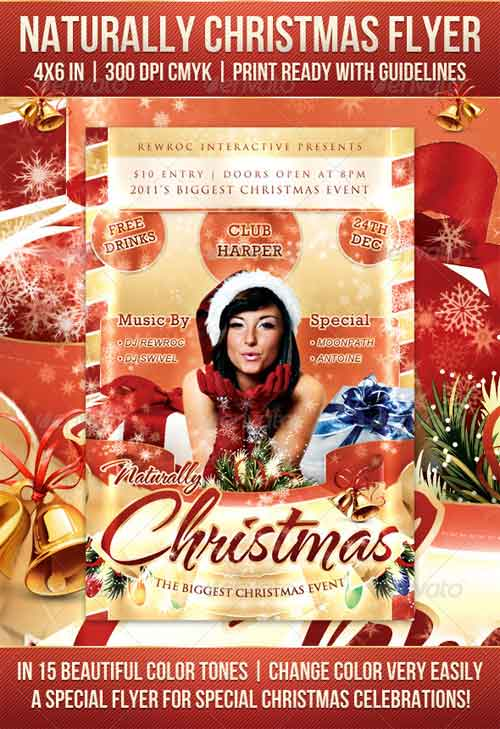 Naturally Christmas Party Flyer