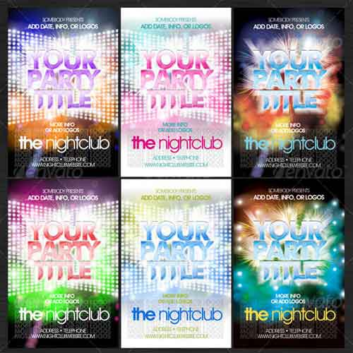 Flashy Nightclub Flyer Templates