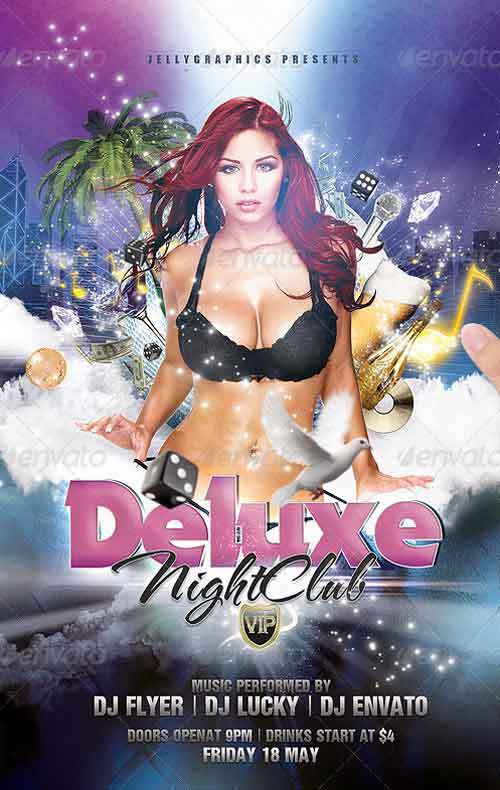 Deluxe NightClub Party Flyer Template