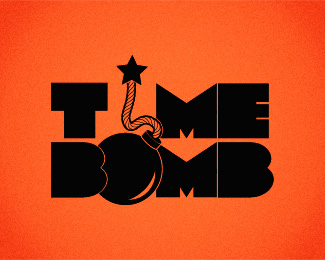 Time Bomb Logotype Logo Design
