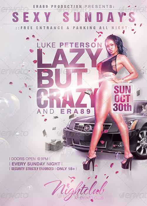 Sexy Sundays Nightclub Party Flyer