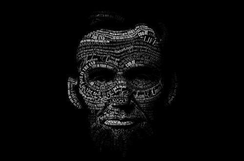 Abe Lincoln/ Black and White