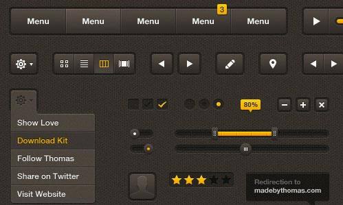 Free UI Kits: Butterscotch