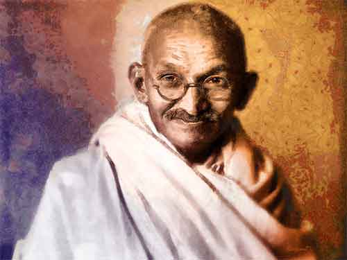 Mahatma Gandhi Illustration