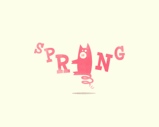 Spring Pork Logo Design