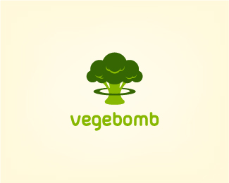 Vegebomb Logo Design
