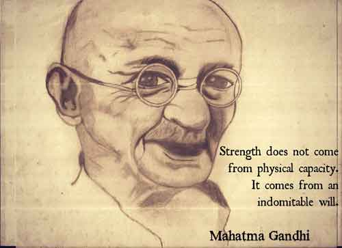 Mahatma Gandhi Illustrations
