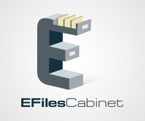 E-Files Cabinet Logo Design
