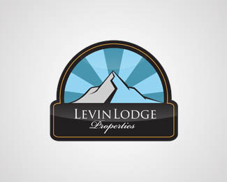 Levin Lodge Properties Logo Design
