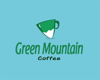 Green Mountain Coffee Logo Design