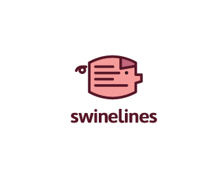 Swine Lines Logo Design