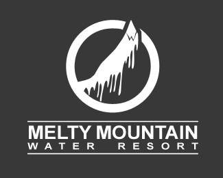 Melty Mountain Logo Design