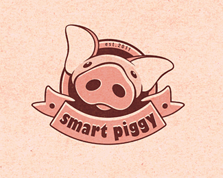 Smart Piggy Logo Design