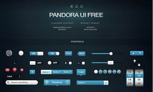 Pandora UI Free for iOS – User Interface Pack