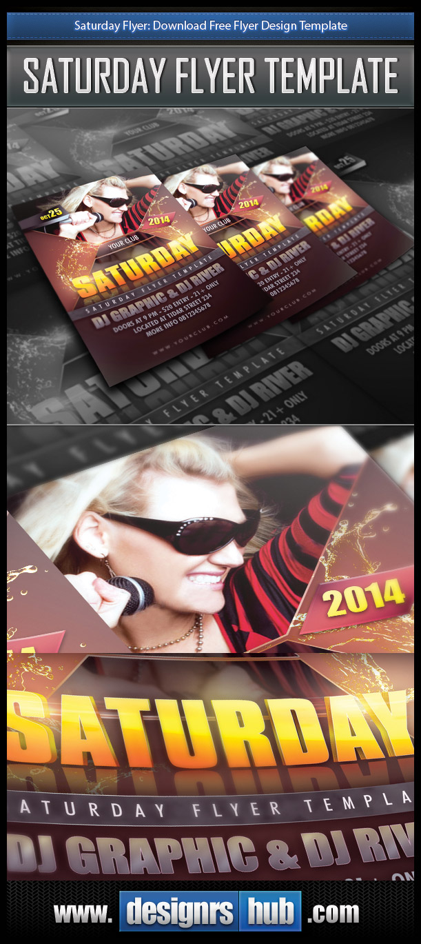 Saturday Flyer: Download Free Flyer Design Template