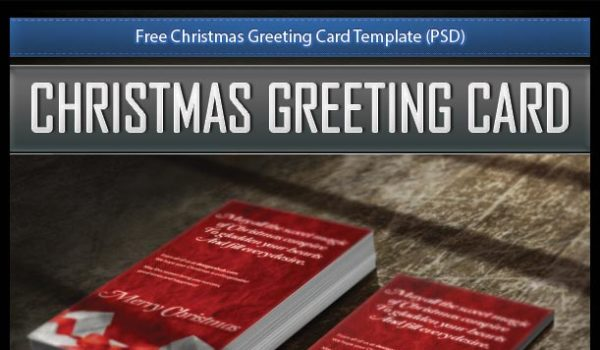 Free Christmas Greeting Card Template (PSD)