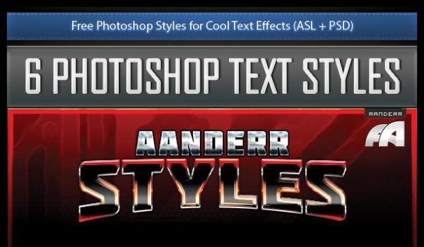 Free Photoshop Styles for Cool Text Effects (ASL + PSD)