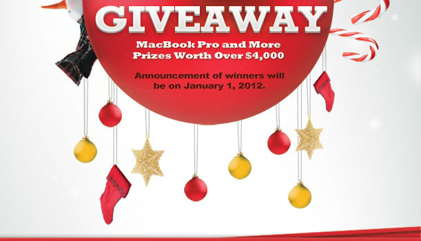 Xmas Giveaway: MacBook Pro and More Prizes Worth Over $4,000