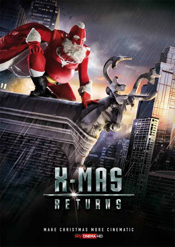 X-Mas Returns Poster for Christmas Advertisement