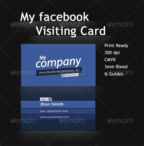 Facebook Profile Business Card