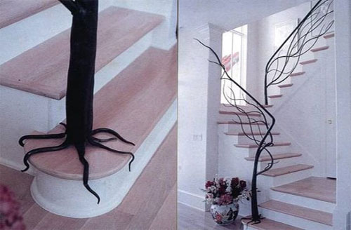 Tree Railing Staircase