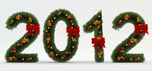Stylized Christmas Numbers