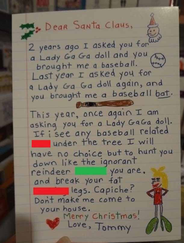 christmas letter to santa claus 25 funny ideas