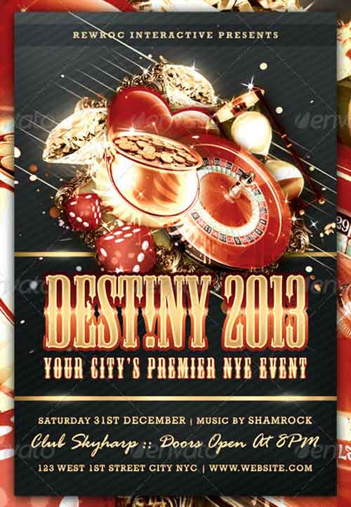 Destiny New Year Flyer
