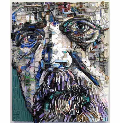 Art from Recycled Materials: David