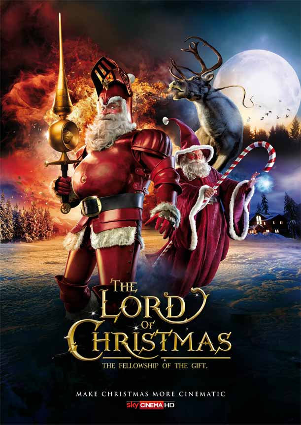 The Lord of Christmas: The Fellowship of the Gift Poster for Christmas Advertisement