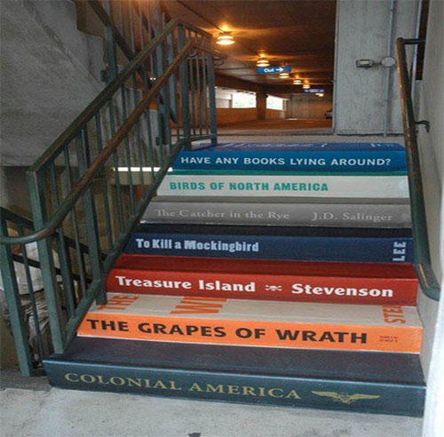 Book Spine Staircase