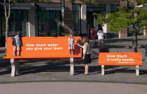 Park Bench Advertising Campaigns: Denver Water