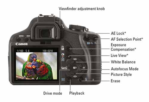Canon EOS Rebel T1i/500D Cheat Sheet