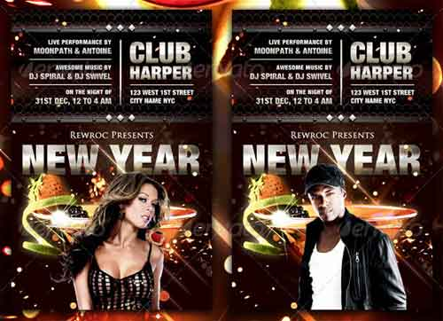 Explosive New Year Flyers
