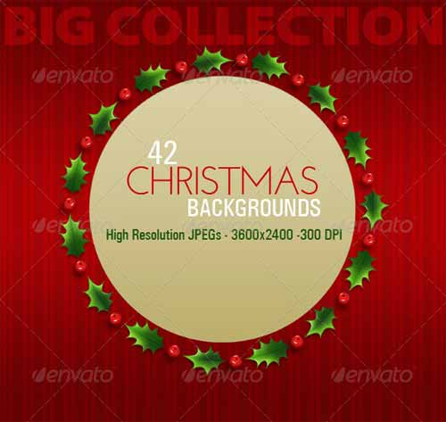 42 Christmas Backgrounds