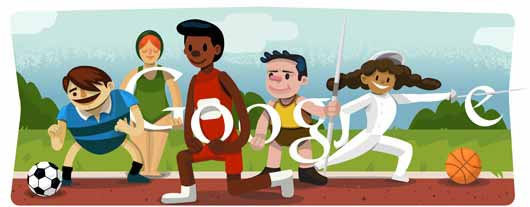 Google Doodle Sports 2012 - Opening Ceremony