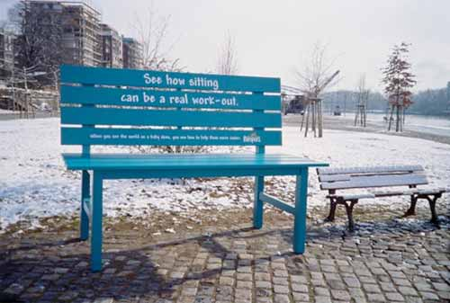 Park Bench Advertising Campaigns: Pampers