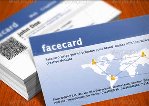 10 free and premium facebook business card templates quick responsive facebook business card cheaphphosting Images