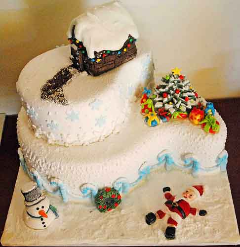 30 sweet christmas cake decorating ideas and designs for Decoration ideas for christmas cake