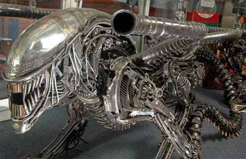 Art from Recycled Materials: Alien