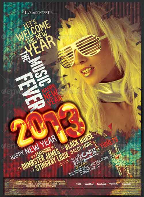 New Year Fever Flyer - Poster
