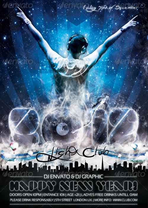 New Year Flyers To Promote New YearS Eve Party