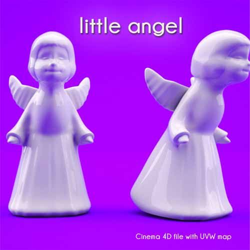 Christmas 3D Models Little Angel